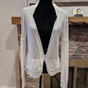 Cute white cardigan size M